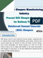 Railway Sleepers Manufacturing Industry
