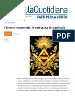 Chiesa e Massoneria Le Ambiguita Di Ravasi