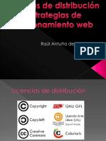 Licencias de Distribucion y estrategias de posicionamiento web