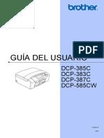 Guia Usuario DCP385 Spa Usr