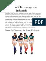Bandar Judi Terpercaya Dan Resmi Di Indonesia