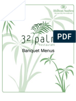 32 Palm Banquet Menu