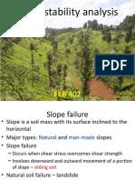 FEB 402 Slope Stability Analysis