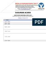 Jadwal Acara Simposium Nasional Mipa 2017