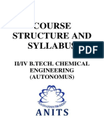 Second Year Chemical Engineering Syllabus