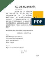 N° 4 Implementación SGC para Optimización de las BPA en el almacén Cuarentena Microbiológico de Yobel SCM (1) (1)