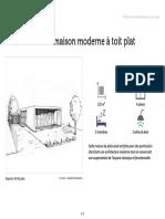 Plan de Maison Moderne a Toit Plat Ooreka