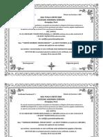 Certificados Provisionales de Acciones KALIYUGAR S.a.C.