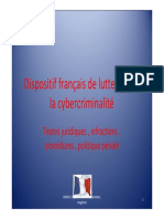 Dispositif Français de Lutte Contre La Cybercriminalité