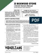 Vogelzang Boxwood Wood Heater Instructions