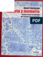 Bergson, Henri - Materia y Memoria