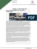 Ecco il progetto Learning by Doing - Centropagina.it, 17 ottobre 2018