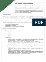 Factores Químicos de Riesgo Profesional