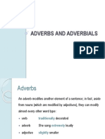 Adverbs and Adverbials Teacher Information