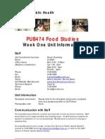PUB474 Week One Info 2007