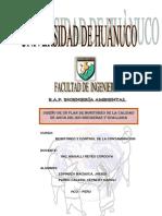 Diseño de Un Plan de Monitoreo de La Calidad de Agua Del Rio Higueras y Huallaga