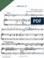 Galliard Sonate Nr. 4.Klaver