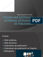 Páginas Web Estáticas y Dinámicas Power Point