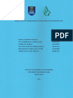 Relatório propane dehydrogenation