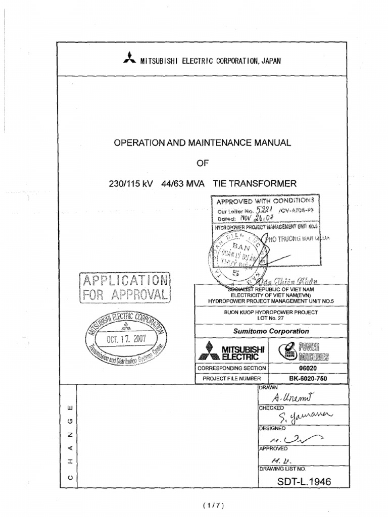 BK- 6020- 750-0-Operation and Maintenance for Tie Transformer ...