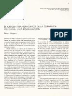 1.Meggers 1987 El Origen Transpacifico de La Ceramica Valdivia Una Revaluacion