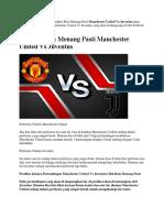 Prediksi Bola Menang Pasti Manchester United vs Juventus