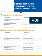 El flyer con carreras alternativas y universidades repartido por la Sunedu