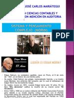 Exposición Sistema y Pensamiento Complejo Edgar Morin Epistemologia
