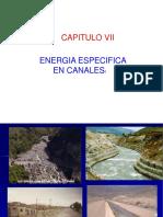 Capitulo Vi Energia Especifica en Canales