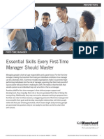 Essential Skills for First Time Managers