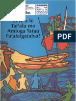 O LEA LE TA'IALA MO AMIOGA TATAU FA'AFAIGAFAIVA