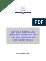 Estudio Sobre Las Migrantes de La Sociedad Vasca