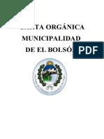 Carta Organica Municipalidad de El Bolson