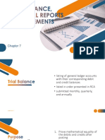 Trial Balance, Financial Reports and Statements