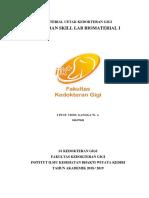 laporan skillab biomaterial bahan cetak alginat dan elastomer
