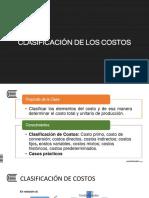 Tema 03 - Clasificación de Los Costos