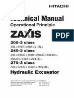 ZX200-3 to 280LC-3 Technical Manual(Operational Principle)(T