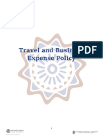 Travel and Business Expense Policy