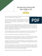 Parte I - 2.3 Desarrollo Web