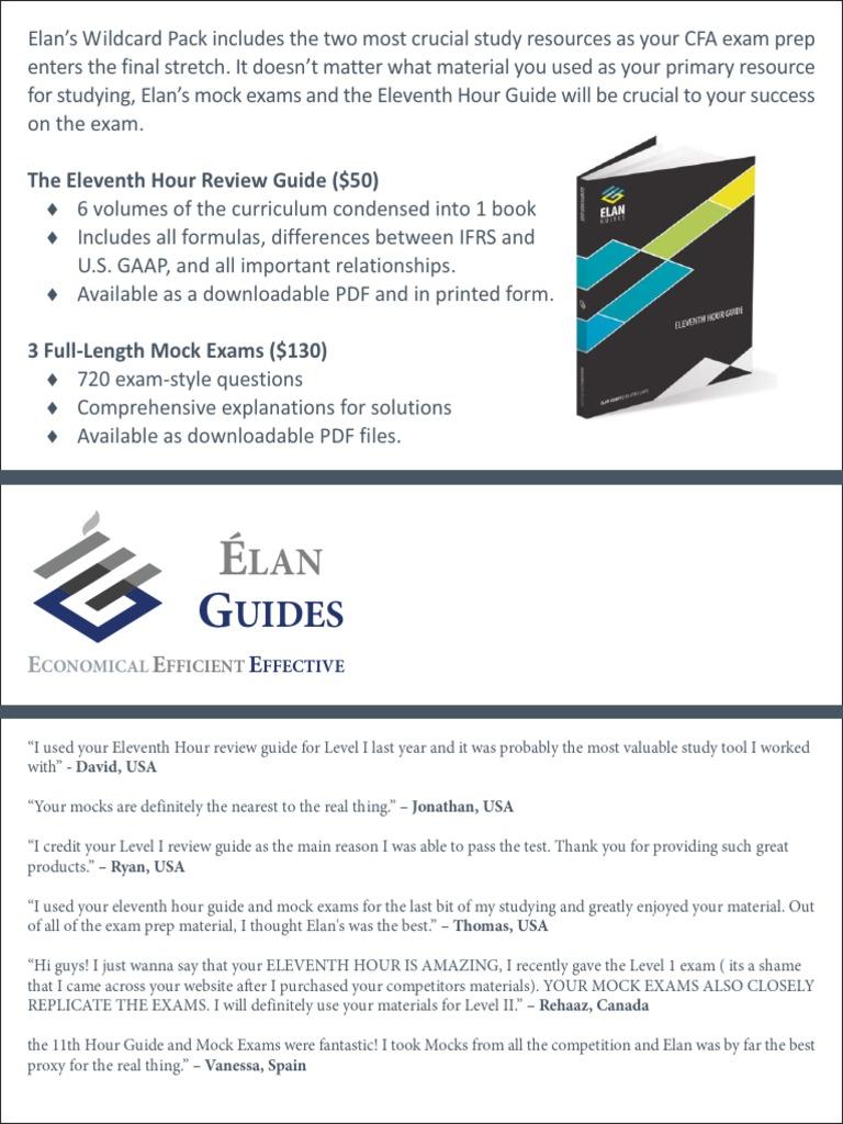 Cfa study material free download