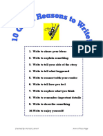 10 Reasons to Write Page for Writing Folder