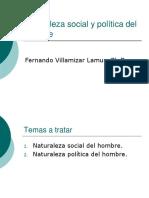 1. Naturaleza social y pol+¡tica del hombre
