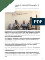 17-09-2018 - El Titular de La Secretaría de Seguridad Pública Explica El Nuevo Modelo de C5i - Tribuna