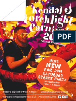 Kendal Torchlight Carnival Pogramme 2016