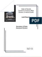 Report 19-01 Secretary of State Elections Division