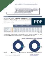 Informe Establecimientos de Crédito de Colombia Agosto 2018