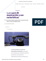 _Los 28 Tipos de Comunicación y Sus Características