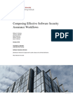 Composing Effective Software Security Assurance Workflows