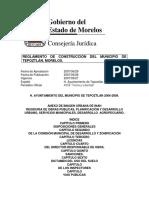 Reglamento de Construcción de Tepoztlán
