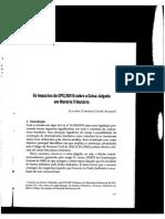 ARAÚJO, Juliana. Os Impactos Do CPC15 Sobre a Coisa Julgada Em Matéria Trib